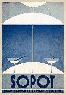 Ryszard Kaja - Sopot, polski plakat turystyczny