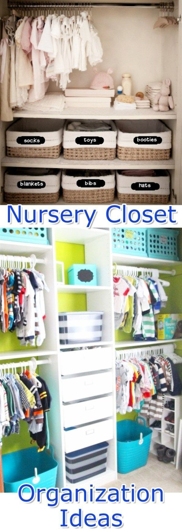 Baby Closet Organization Ideas - How To Organize the Baby Closet - DIY Nursery Closet Organization Ideas #organizationideas