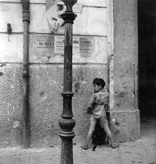 Wayne F. Miller - Naples (boy smoking), 1944