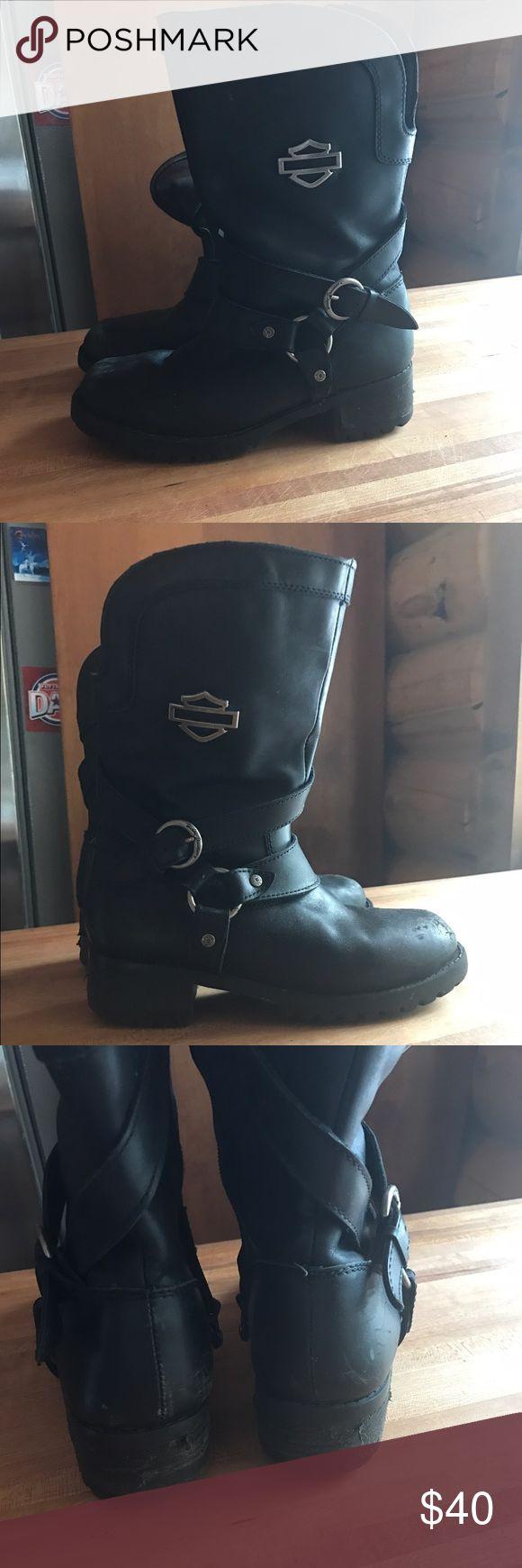 Women's Harley Davidson Boot Preloaded Harley Davidson Black Leather Boot. Harley-Davidson Shoes Combat & Moto Boots