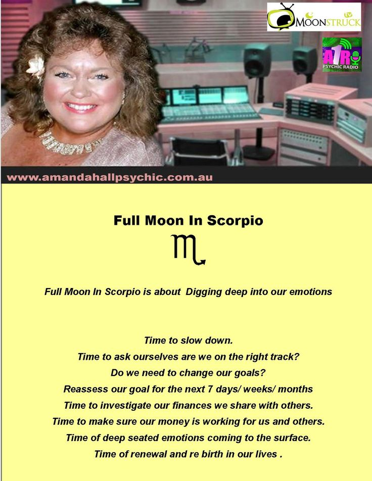 A1R Psychic Radio + MoonstruckTv  Show with Amanda Hall Psychic. Show 11th May 2017  https://www.facebook.com/PsychicRadio/ Full Moon In Scorpio May 2017 Astrology Lessons with Amanda Hall www.amandahallpsychic.com.au