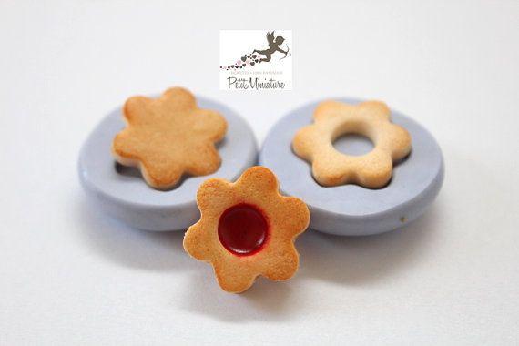 Stampo Silicone Biscotto Fiore Stampo Gioielli di PetitMiniatures