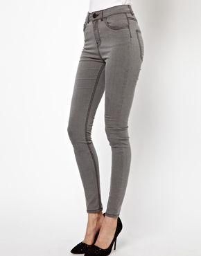 Image 1 ofJust Female Stroke Powerstretch High Waist Skinny Jeans