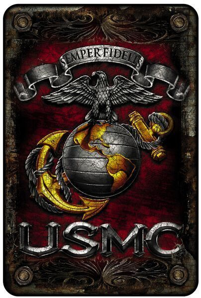 Beautiful Aluminum Marines Sign! - FREE Shipping! - Show Off Your Marine Corps Pride with this on your wall! - 8 inches x 12 inches Note: There are no returns on signs