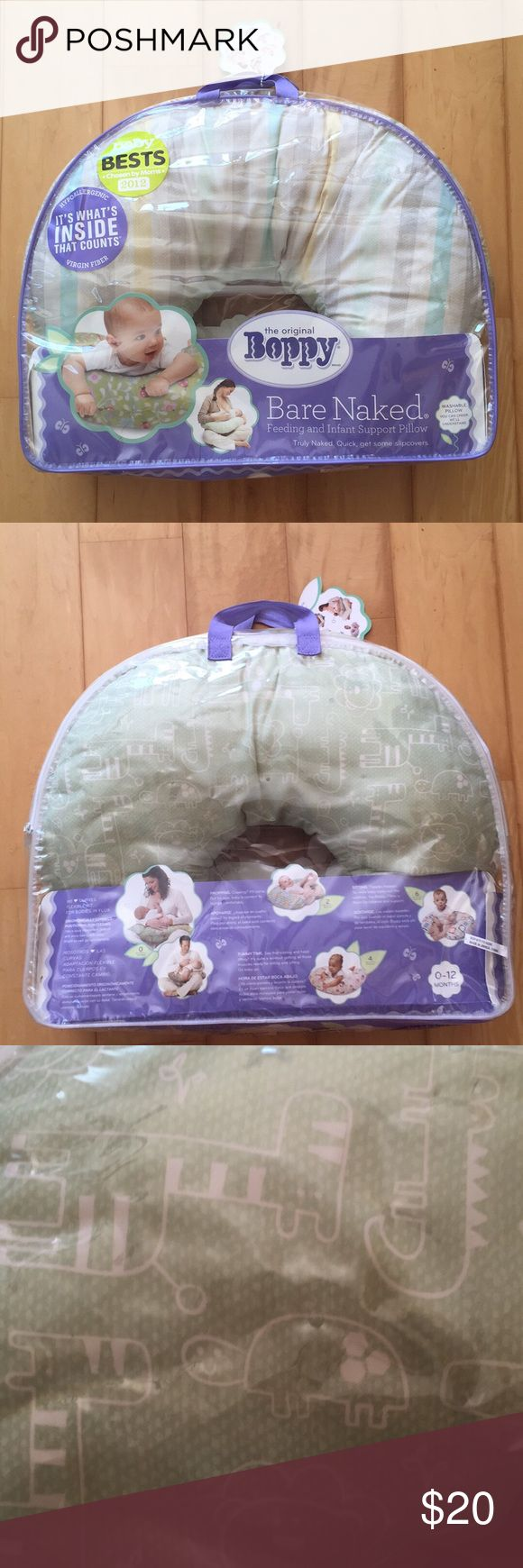 Boppy Bare Naked Feeding & Support Pillow New in bag. Hypoallergenic. Washable. Boppy Accessories
