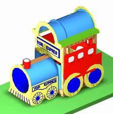Resultado de imagen para jardin infantil dibujo tren en el centro