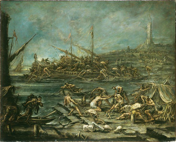 Alessandro Magnasco - Embarquement des galériens dans le port de Gênes