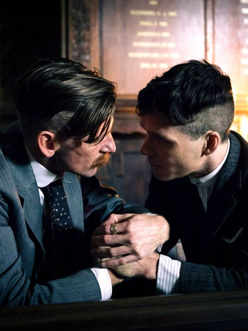 tommy and arthur on peaky blinders