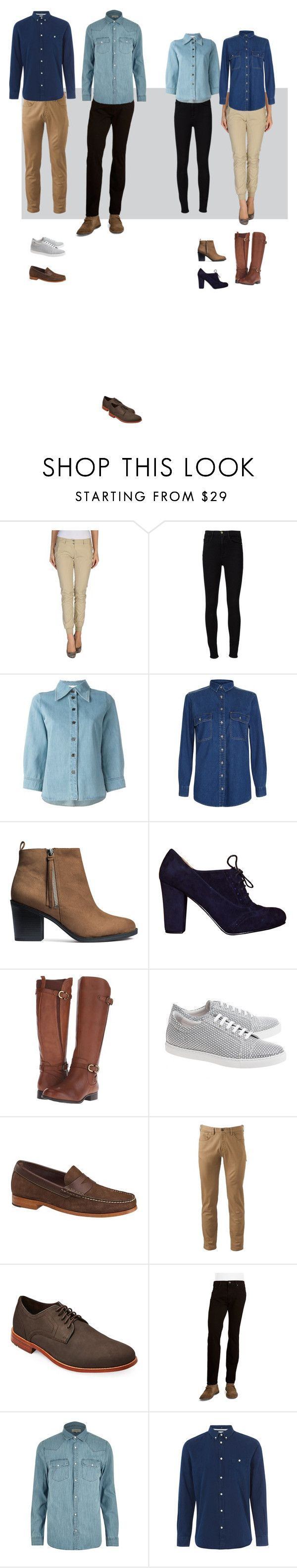 """Dotación Tiendas"" by visual-i on Polyvore featuring Freddy, Frame Denim, Chloé, New Look, H&M, Naturalizer, Comme des Garçons SHIRT, Johnston & Murphy, Dockers y Rockport"
