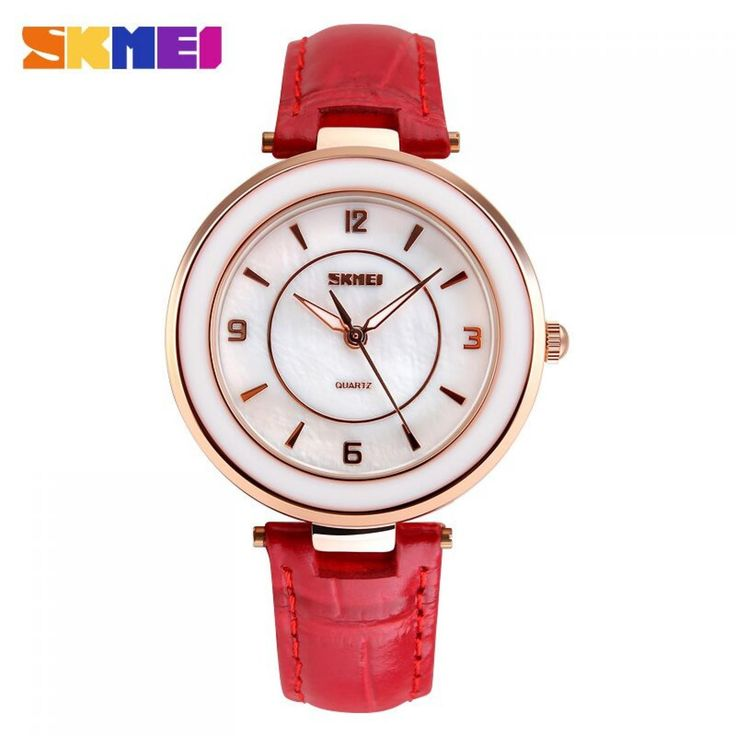 Jam Tangan Wanita SKMEI Fashion Casual Leather Strap Original 1059CL