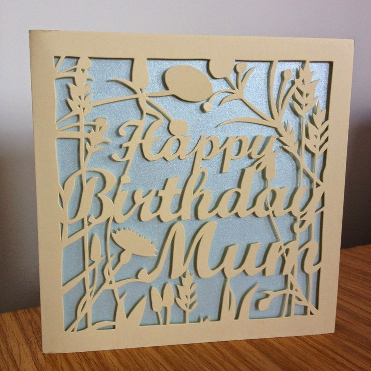 paper cut wedding invitations uk%0A Hand cut birthday card for mum    Paper CuttingWedding
