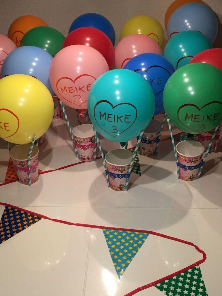 Luchtballon met popcorn traktatie van Meike