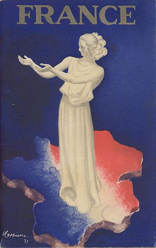 "Travel brochure ""France,"" 1937.  Published by the French Government."