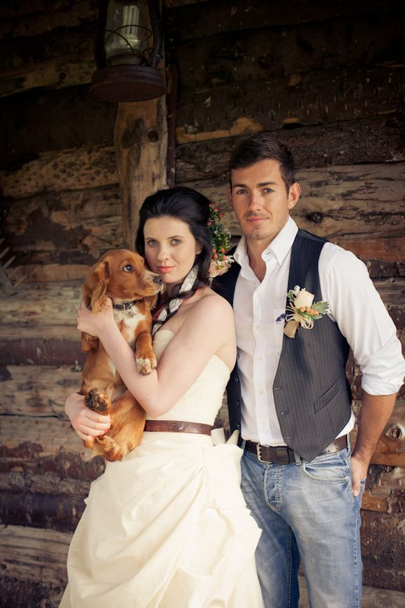 I like the groom in jeans and the vest-i think russell likes the idea too