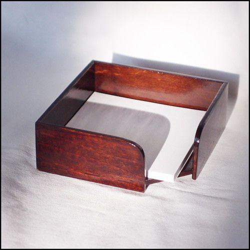 Dřevěná krabička na poznámky překližka - palisandr