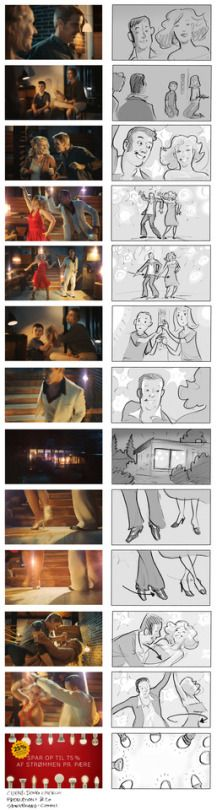 Storyboard vs actual film. Client: DONG Energy. Production: &Co Production. Director: Mats Stenberg. Storyboard: Ole Comoll