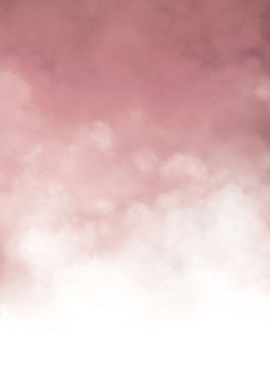 Modernes Poster mit Wolken...
