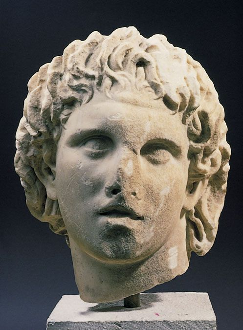 Statue of Alexander the Great by Lysippos.  4th century BC.
