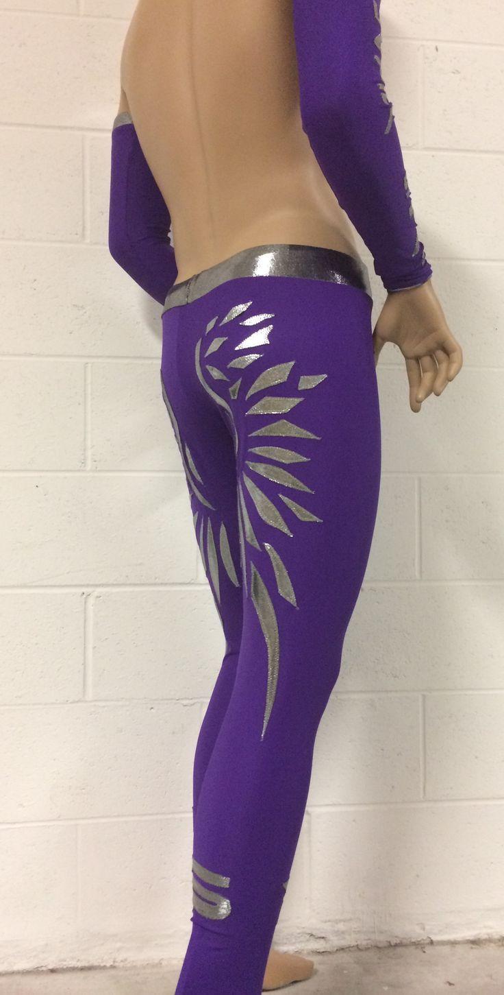 Wrestling tights - angels wings by Broz Wrestling Design -Ava Broz