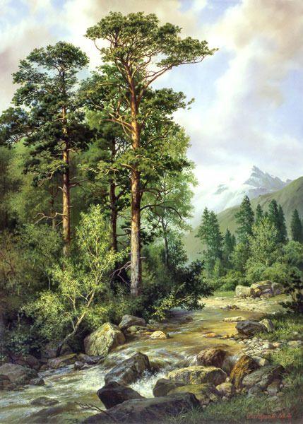 De Michael Satarov art painting landscape
