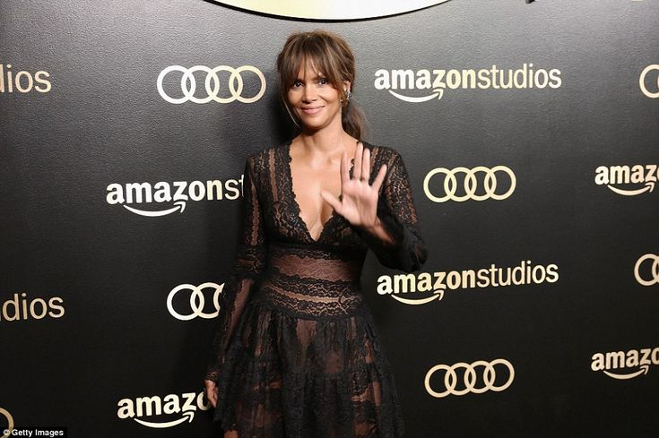 Centre stage: Extant star Halle Berry turned heads as she made her way into the Amazon eve...