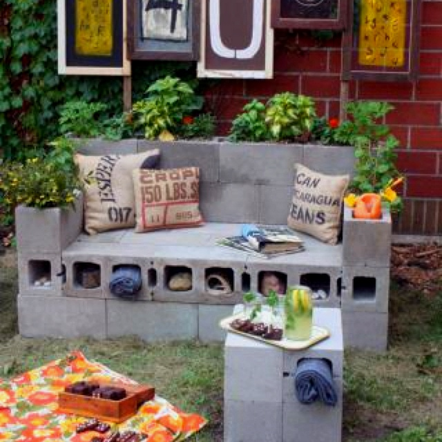Best Cinder Block Furniture Images On Pinterest Cinder Blocks - Awesome home projects created from concrete cinder blocks