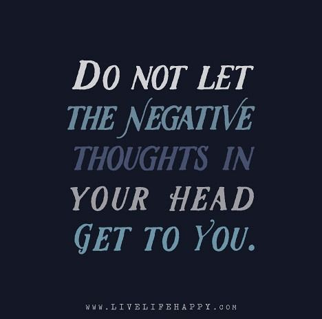 how to get rid of thoughts in your head