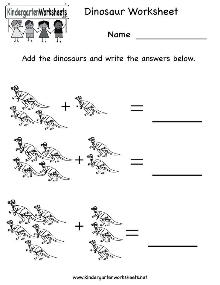 Kindergarten Dinosaur Worksheet Printable