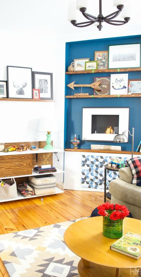 fall one room challenge week 6 the reveal blue rooms blue rh pinterest com