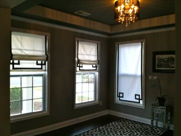Black and White Roman Shades contemporary roman blinds