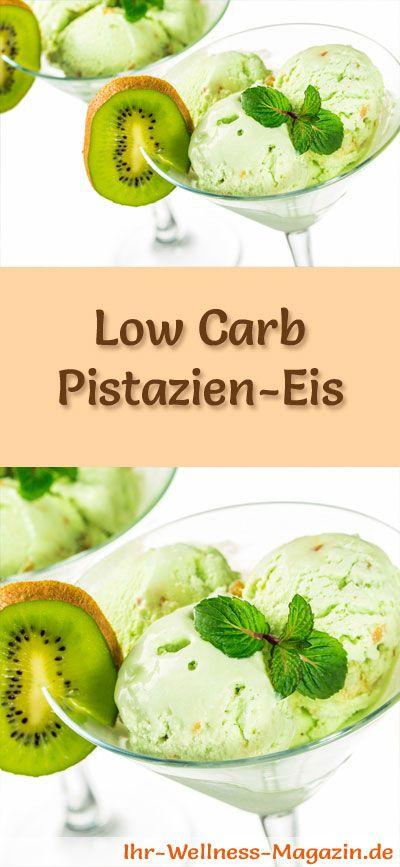 Rezept für selbstgemachtes Low Carb Pistatien-Eis - ein einfaches Eisrezept für kalorienreduzierte, kohlenhydratarme und gesunde Eiscreme ohne Zusatz von Zucker ...