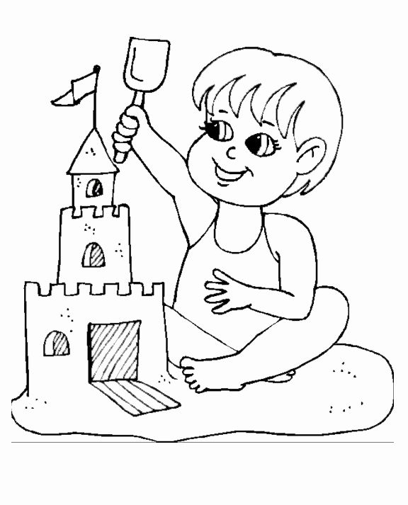 Beach Coloring Pages For Kids In 2020 With Images Beach