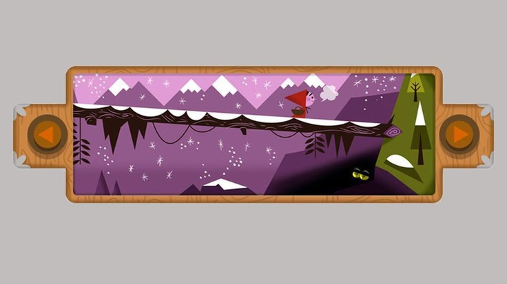 Love the color + style on this!: Interactive Google Doodle Celebrates Grimm Fairy Tales