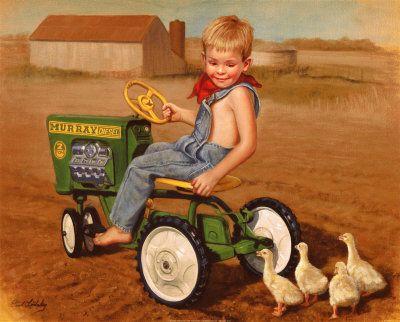 Sweet farmer illustration