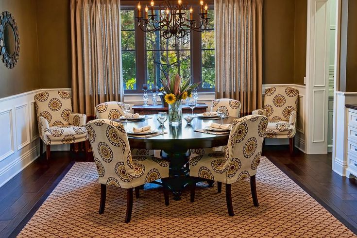 This formal dining room gets an update with suzani for Updating a traditional dining room