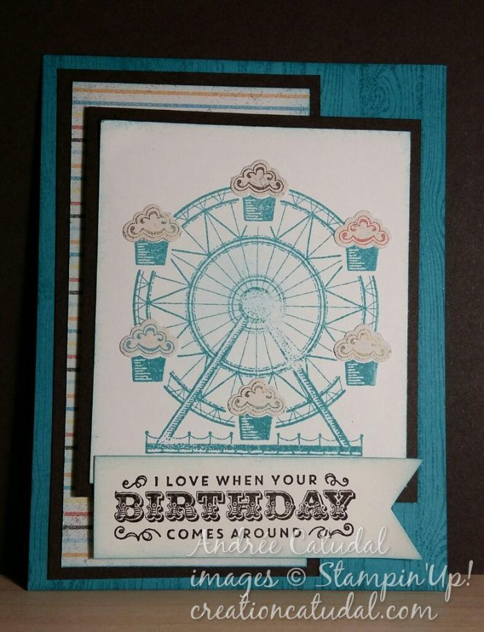 Carousel Bithday Stampin Up! #OnStage2016