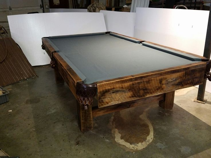 Reclaimed Wood Pool Table
