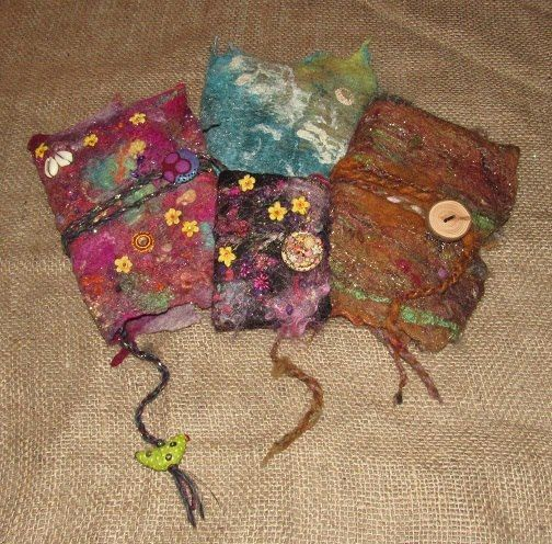 Felted Journals Felting Classes How To Felt Classes With Lea Williams, Beginner's Wet Felting Workshops Wales UK Crafty Holidays #HowToCrochet #CrochetClasses #WetFeltingWorkshops #CrochetHolidays #CraftClasses #FiberArt #CrochetWorkshops #HowToKnit #KnittingClasses