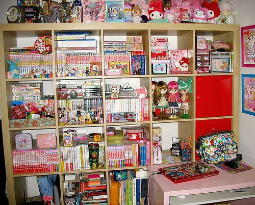 Anime bedroom ideas on how do organize all my anime manga for Anime bedroom ideas