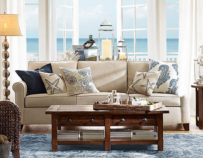 Pottery Barn Living Room Ideas Benchwright Coffee Table Rustic Mahogany Stain Knotted Ocean Home Decor In 2018 Pinterest And