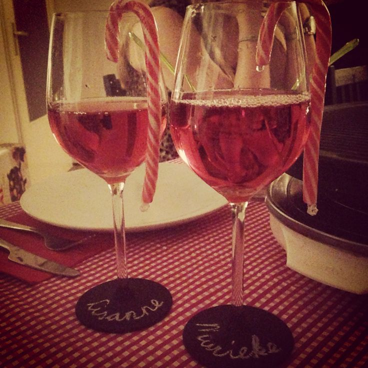 Christmas accessoires, wineglass decoration