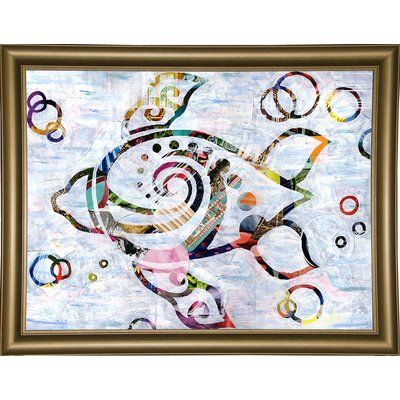 East Urban Home 'Sea Turtle' Graphic Art Print Format: Wrapped Canvas Floater Framed
