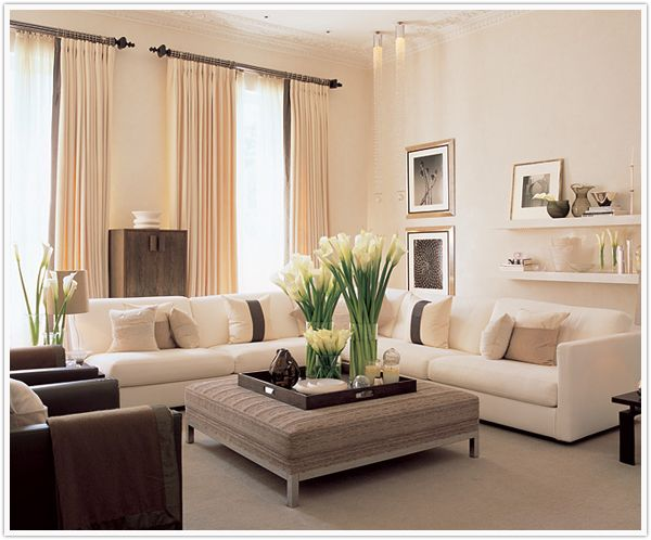 Living room - soft, warm colors.