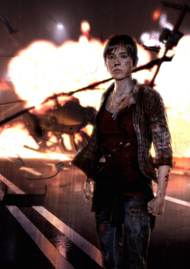 Beyond: Two Souls: Helicopter Crash - Key Art (Vertical)