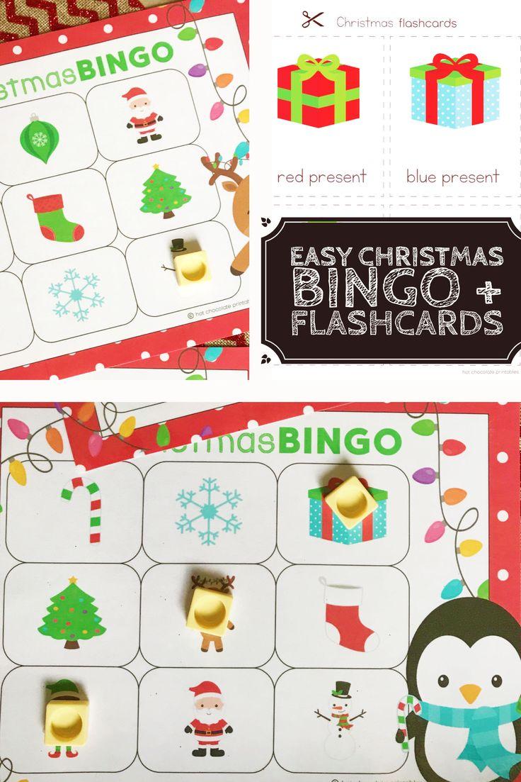 EASY Christmas Bingo and flashcard set Christmas bingo