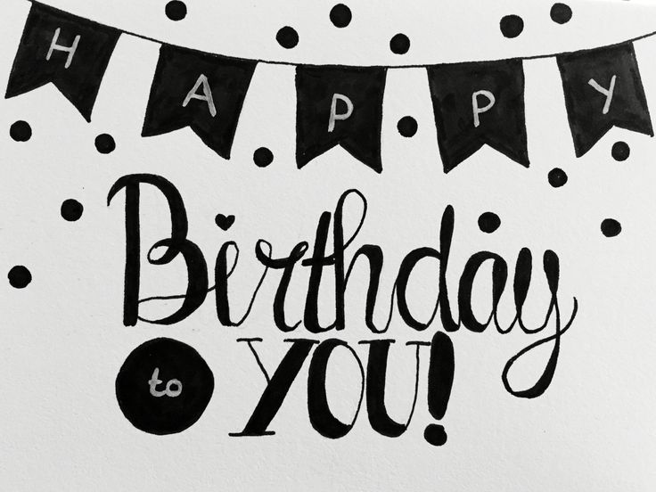 Handlettering - Happy Birthday