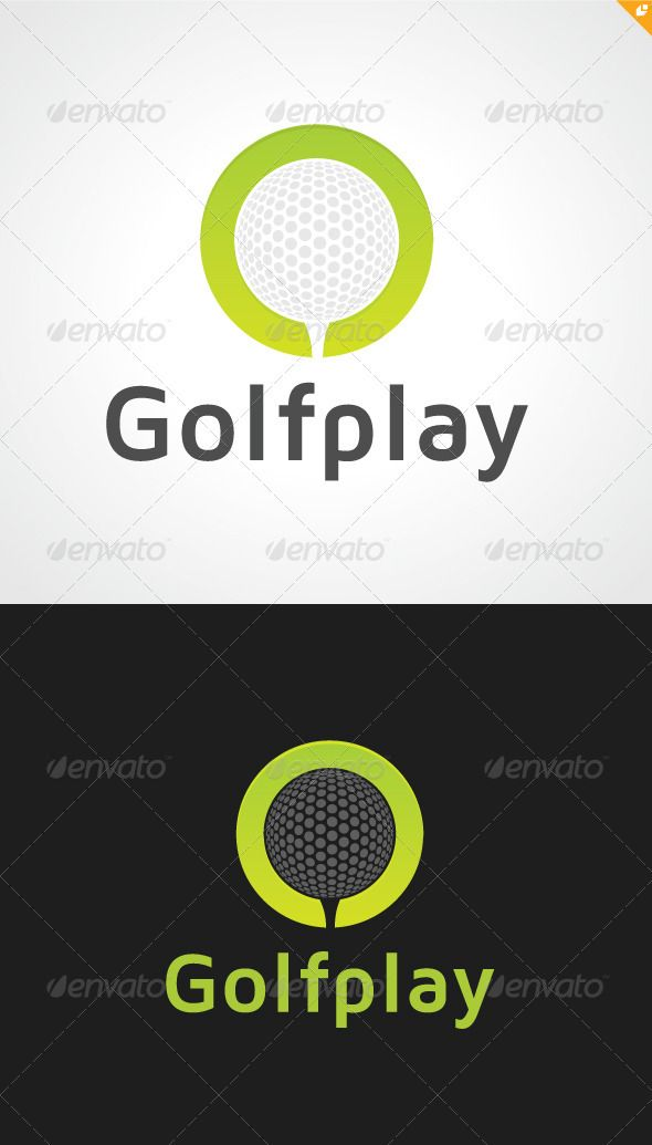 Golf Play  - Logo Design Template Vector #logotype Download it here: http://graphicriver.net/item/golf-play-logo/3354530?s_rank=536?ref=nexion