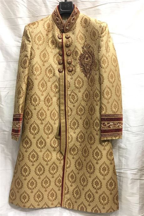 Golden Wedding Wear Readymade Sherwani