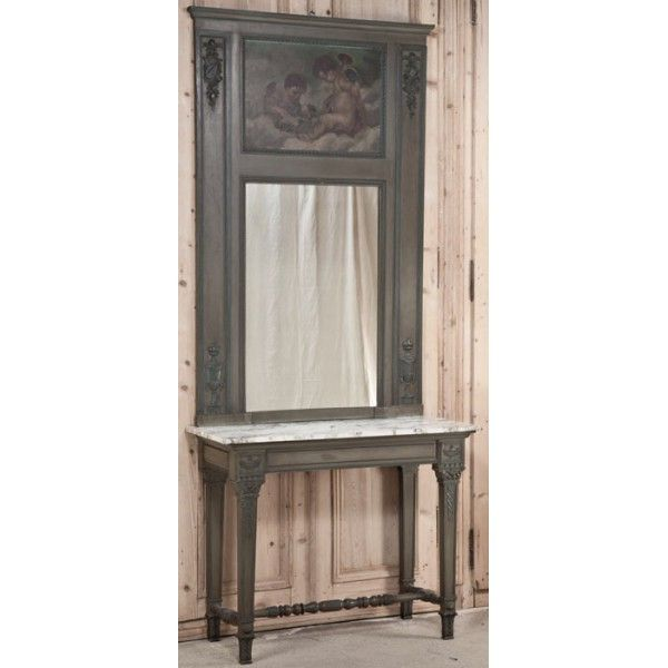 Antique and Vintage Painted Furniture   Neoclassical 19th Century Italian  Console   Trumeau   www. 205 best Painted Furniture  Antique and Vintage images on