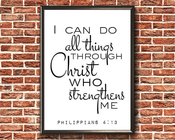 Scripture Wall Art  I Can Do All Things  Through Christ Who